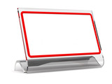 desktop tablet in a glass frame (for your text)