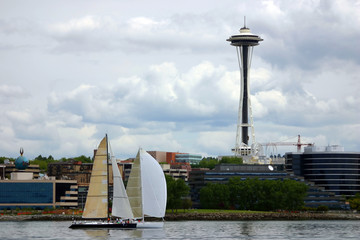 boats by space needle