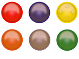 multi-coloured buttons poster