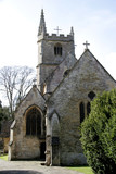 castle combe church, wiltshire poster