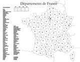liste des départements français poster