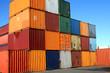Leinwandbild Motiv containers waiting to be loaded