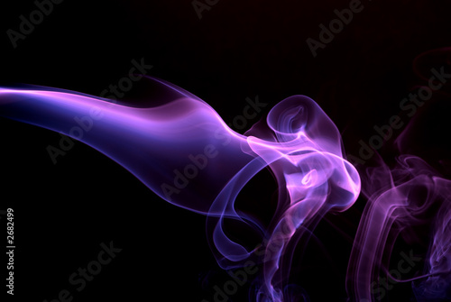 Canvas Fractal waves purple smoke