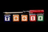 screw driver on blocks spelling tools poster