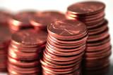 close up pennies poster