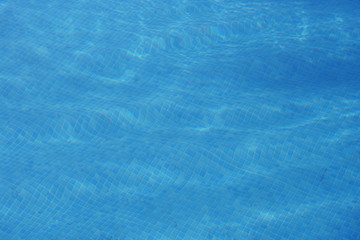 blue swimming pool water background