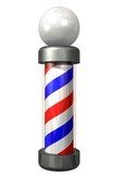 barber pole on white poster