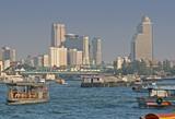 chao praya river in bangkok poster