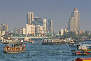 chao praya river in bangkok