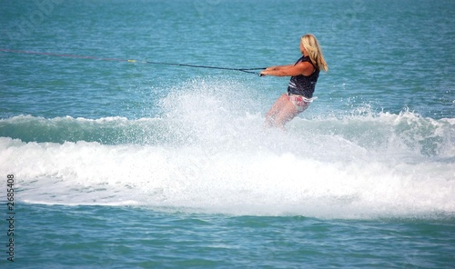 blond lady wake boarder