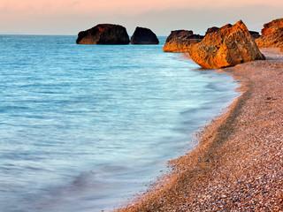 morning meditterranean coast