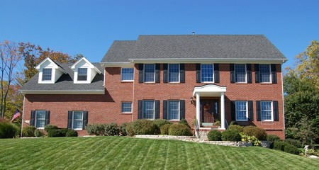 brick two story home
