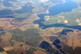 aerial view - fields and rivers