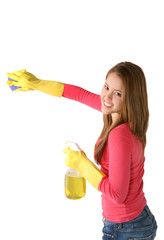woman or maid cleaning