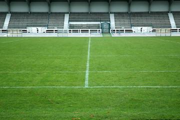 football - terrain et tribune