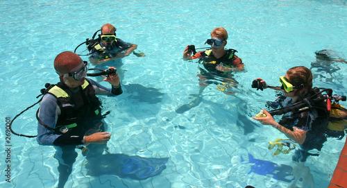 Foto op Aluminium Duiken scuba diving lessons