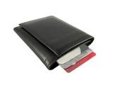 black leather wallet poster