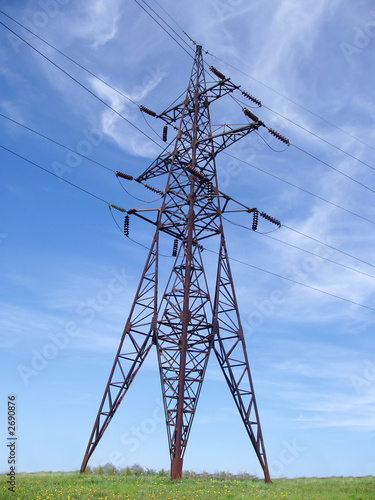 poster of high voltage tower
