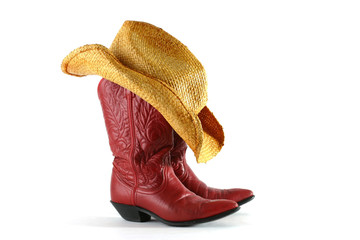 boots and hat