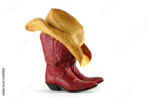 canvas print picture boots and hat