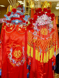 chinese tradition marriage formal clothes poster