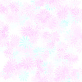 pink flower gift wrap poster
