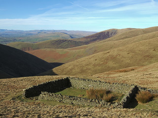 sheepfold on the howgills
