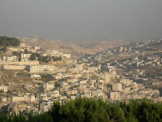 vue sur les collines de jérusalem