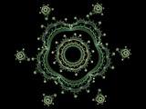 complex floral fractal 3d poster