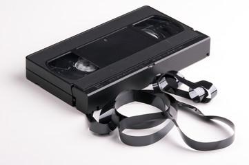 zerstörte video kassette