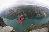 base jump in norway poster