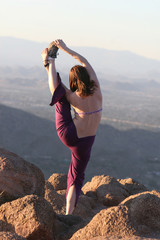 mountain top yoga stretch