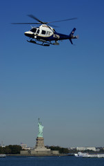 police chopper over liberty