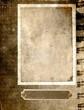 vintage paper frame - sepia