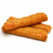 fried crab sticks isolated on white