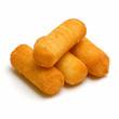 fried potato sticks isolated on white