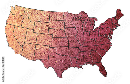 Map Of The Untied States Textured Purple Buy Photos Ap Images