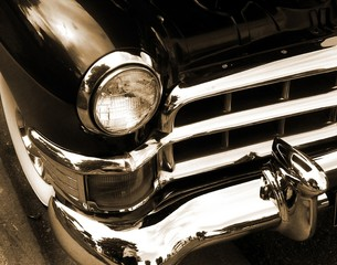 Classic American Car In Sepia