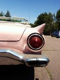 Pink Classic Convertible American 50S Car poster