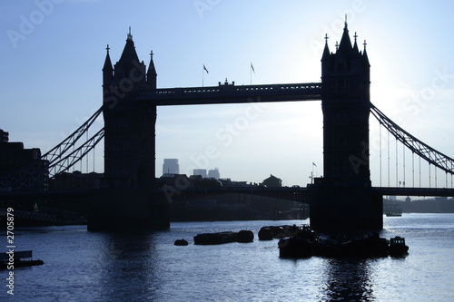 tower bridge london, cool sunrise silhouette