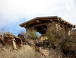 desert log shelter