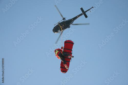 Fotobehang Helicopter aerial rescue platform