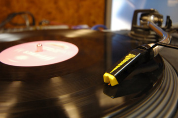 photo - playing vinyl disc