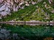 montagna verde riflessa