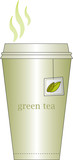 green tea in paper cup