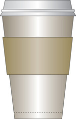 paper cup with sleeve