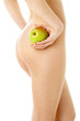 naked woman with green apple