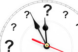 question mark clock poster