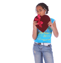african american girl holding heart 2