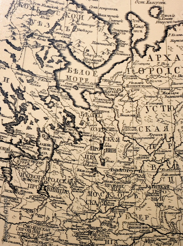Fototapeta ancient cartography - old aged map of east europe